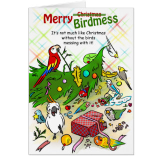 Merry Birdmess Card