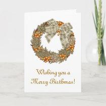 Merry Birthmas Birthday Christmas combined Holiday Card