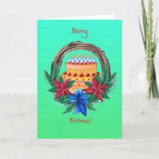 Merry Birthmas Card
