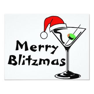 Merry Blitzmas Christmas 4.25x5.5 Paper Invitation Card
