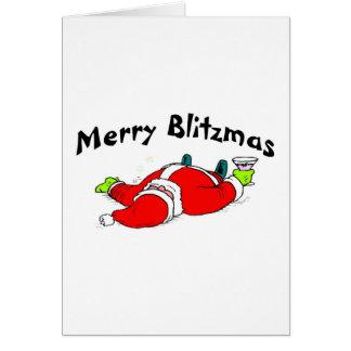 Merry Blitzmas Santa Greeting Card