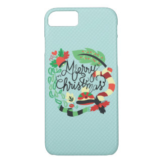 Merry Blue Christmas iPhone 7 Case