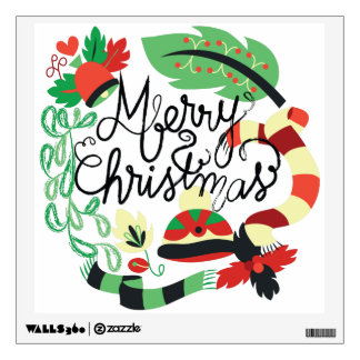 Merry Blue Christmas Wall Sticker