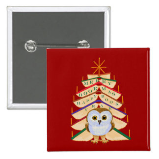 Merry Bookmas 2 Inch Square Button