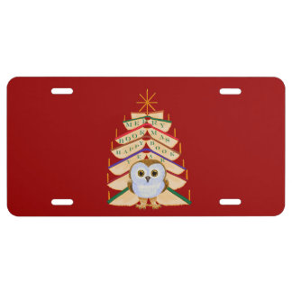 Merry Bookmas License Plate