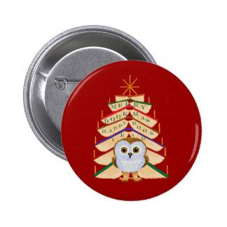 Merry Bookmas Pinback Button