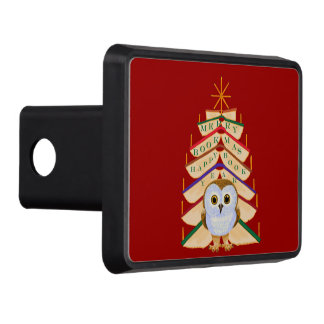 Merry Bookmas Trailer Hitch Covers