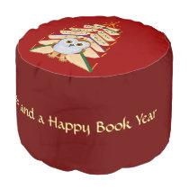Merry Bookmas Pouf