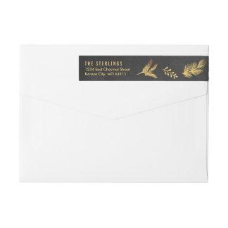 Merry Botanicals Gold Holiday Return Address Label