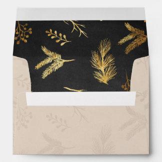 Merry Botanicals Patterned Holiday Envelope
