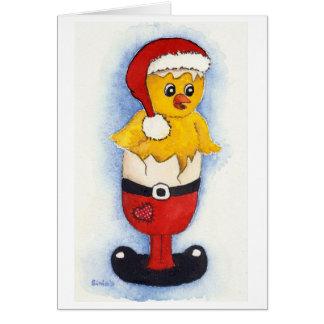 Merry BREAK nearly chick Card