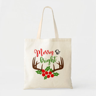 Merry & Bright Antler Christmas Bags