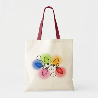 """Merry & Bright"" Canvas Bags"