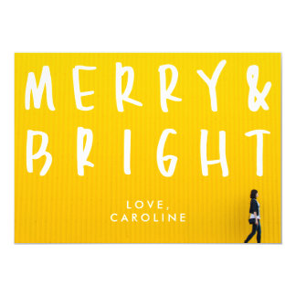 Merry & Bright Bold Holiday Photo Card