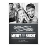 Merry & Bright Chalkboard Christmas Cards Custom Invitations