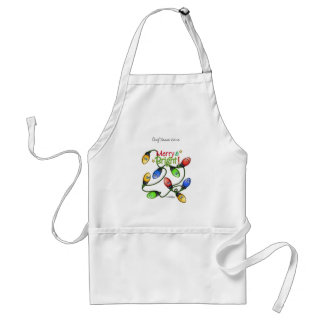 Merry & Bright Christmas Adult Apron