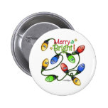 Merry & Bright Christmas Button
