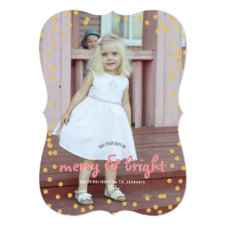 Merry Bright Christmas Cute Custom Holiday Photo Card