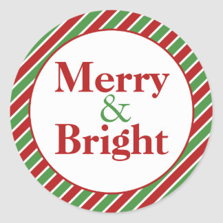 Merry Christmas Envelope Seals Stickers   Zazzle