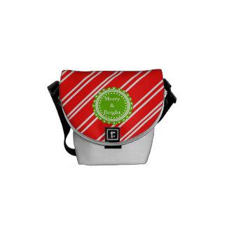 Merry Bright Christmas Holiday Messenger Bag