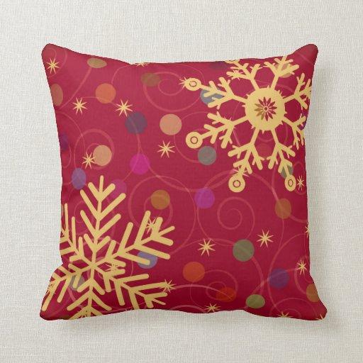 Merry & Bright Christmas Holiday Snowflake Bendel Pillows
