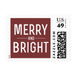 Merry & Bright Christmas Holiday  Stamps