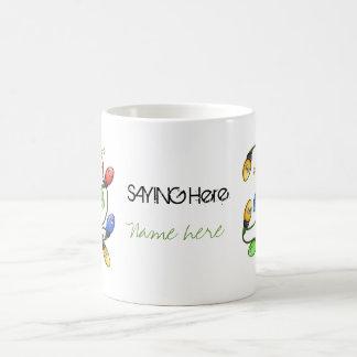 Merry & Bright Christmas Classic White Coffee Mug
