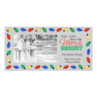 Merry & Bright Christmas Photocard Card