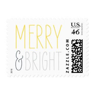 Merry & Bright Christmas postage