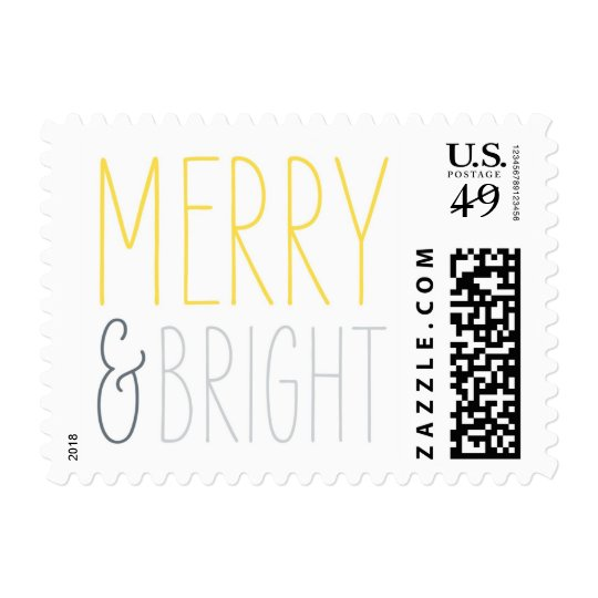 Merry & Bright Christmas postage