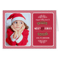 Merry & Bright Christmas to you. Custom Photo Card