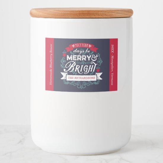 Merry & Bright Christmas Typography Custom Banner