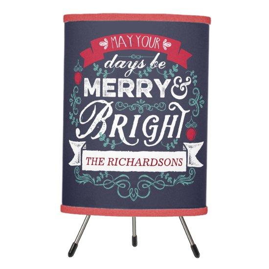Merry & Bright Christmas Typography Custom Banner