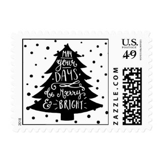 Merry & Bright Chrsitmas Tree | Holiday Stamp