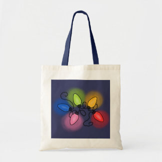 """Merry & Bright"" (dark background) Tote Bags"