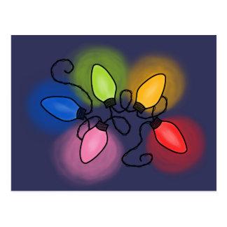 """""""Merry & Bright"""" (dark background) Postcard"""