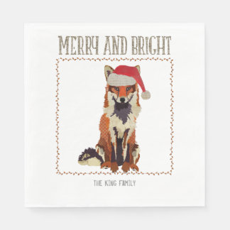 Merry & Bright Fox Napkin