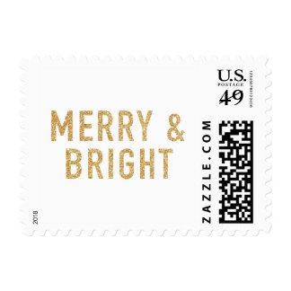 Merry & Bright Glitter Stamp