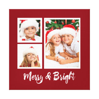 Merry & Bright Holiday Canvas Decoration