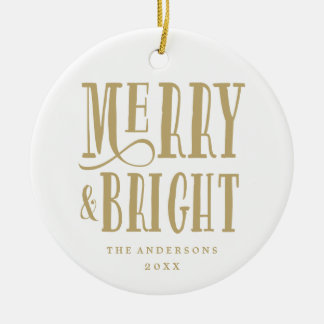 Merry & Bright | Holiday Ornament
