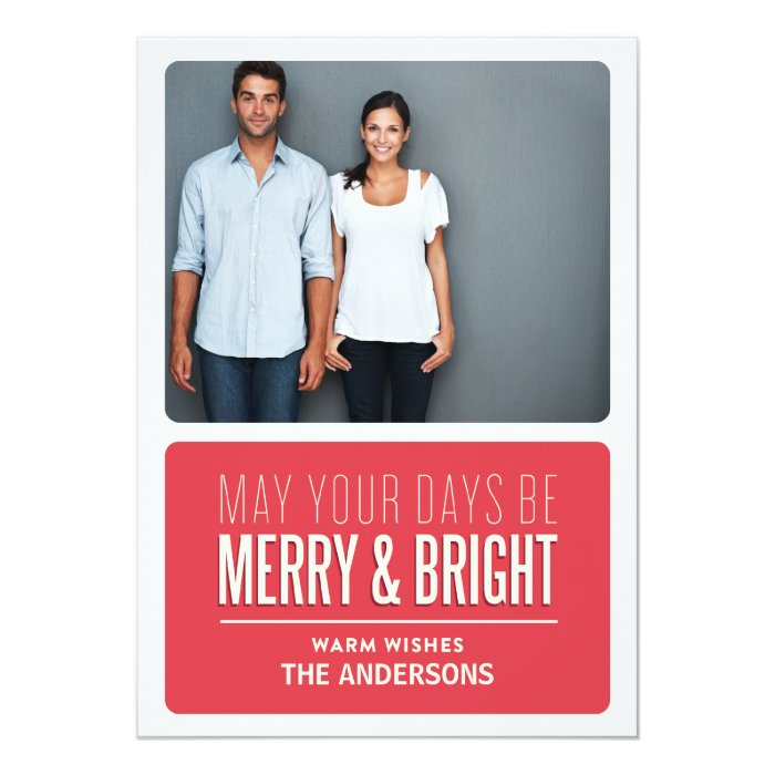 MERRY & BRIGHT | HOLIDAY PHOTO CARD