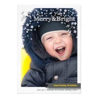 Merry & Bright Holiday Photo Card for Christmas