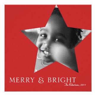 Merry & Bright Holiday Photo Card Custom Invite