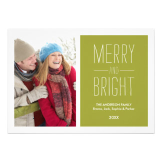 MERRY BRIGHT HOLIDAY PHOTO CARD