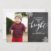 Merry Bright Holiday Photo Chalkboard Snowflake