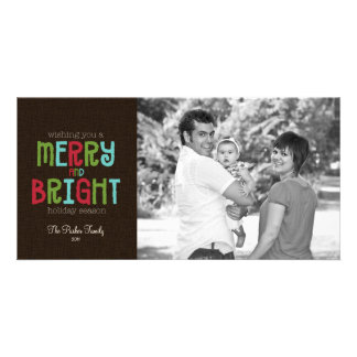 Merry & Bright Holiday Photo Greeting Card