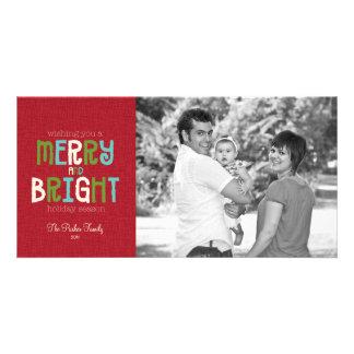 Merry & Bright Holiday Photo Greeting Photo Card