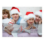 Merry & Bright Holiday Photo Postcards