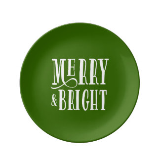 Merry & Bright | Holiday Porcelain Plate