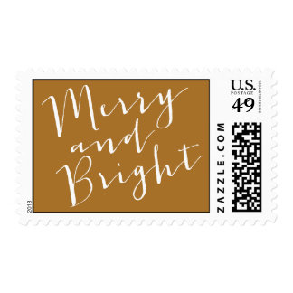 Merry & Bright - Holiday Postage Stamp